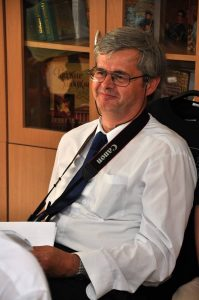 Dr. Pavol Rapavý převzal Csereho cenu Slovenské astronomické společnosti v rocd 2018. Foto: Peter Zbončák/SAS.