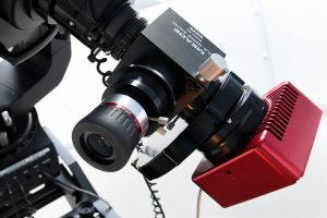 CitlivádetekčníCCDkamerapomáhá svědeckými pozorováními na observatořiWHOO!. Zdroj: Fyzikální ústav vOpavě.