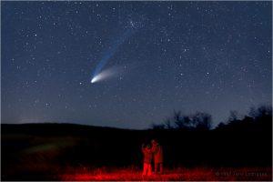 Kometa Hale-Bopp z roku 1997. Foto: Jerry Lodriguss