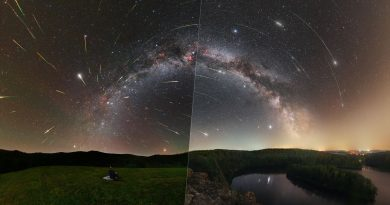 Astronomická snímka dňa NASA z 9. augusta 2021 s názvom Perseus a stratené meteory. Foto: Tomáš Slovinský a Petr Horálek.