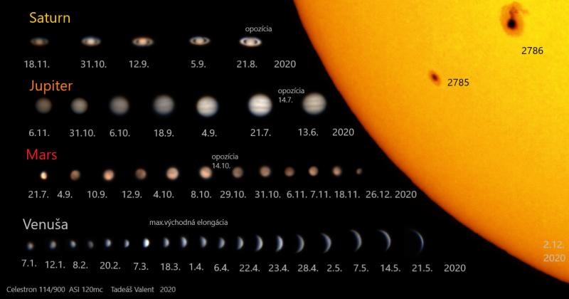 """Snímek """"Planéty roku 2020"""" Tadeáše Valenta (1. místo v kategorii Fotograf/ka do 18 let)"""